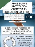 I. Comprensión de La Estructura Del Conocimiento y La Información