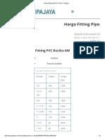 Harga Fitting Pipa PVC Rucika - Pipajaya Faucet Socket