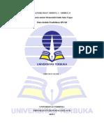 Resume Pendidikan IPS Di SD PDGK4106 Modul 1-9