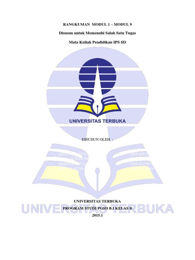 Resume Pendidikan Ips Di Sd Pdgk4106 Modul 1 9