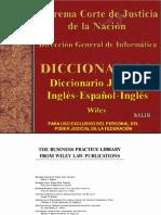 Diccionario Juridico Ingles - Español - Ingles -