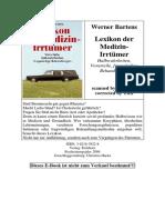 Bartens, Werner - Lexikon Der Medizin-Irrtümer