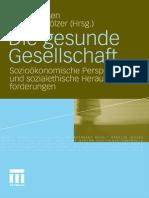 [vs-] Hensen & Co., Die Gesunde Gesellschaft; Sozioökonomische Perspektiven Und Sozialethische Herausforderungen (2011)