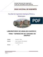 1er Laboratorio- Reconocimento de Cationes