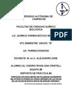 """""""PARTICIÓN CON DISOLVENTES DE POLARIDAD ASCENDENTE DEL EXTRACTO ETANÓLICO CRUDO OBTENIDO DE LAS HOJAS DE LAS HOJAS DE RHOCO DISCOLOR (MAGUEY MORADO)"""""""