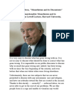 Gore Vidal- Lecture the Great (Unmentionable) Monotheism and Its Discontents