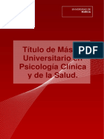 Master Universitario en Psicología Clínica y de La Salud UMU