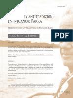 Tradición y Antitradición en Nicanor Parra
