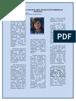 Cultura Para La Paz en El Nivel de Educación Primaria en Venezuela Articulo