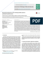 Bacterial Production of the Biodegradable Plastics Polyhydroxyalkanoates