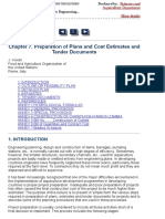 Chapter 7. Preparation of Plans and Cost Estimates and Tender Documents