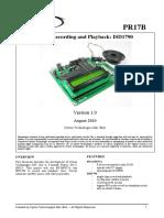 Voice Recording ISD1790 PR17B DD