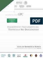 Diagnóstico y Tratamiento Del Testículo No Descendido GRR