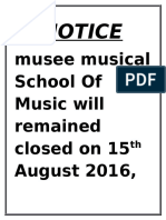 Independence Day Notice