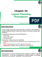 Chapter 04 - Layout Planning Procedures