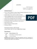 QlikView Resume