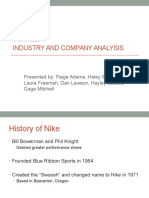 NIKE Industry and Company Analysis