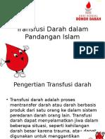 Transfusi Darah Dalam Pandangan Islam