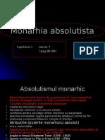 Monarhia Absolutista