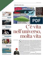 2016-06-26_Corriere Della Sera_La_Lettura N.239_C'è Vita Nell'Universo, Molta Vita