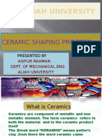 Ceramic Shaping Process