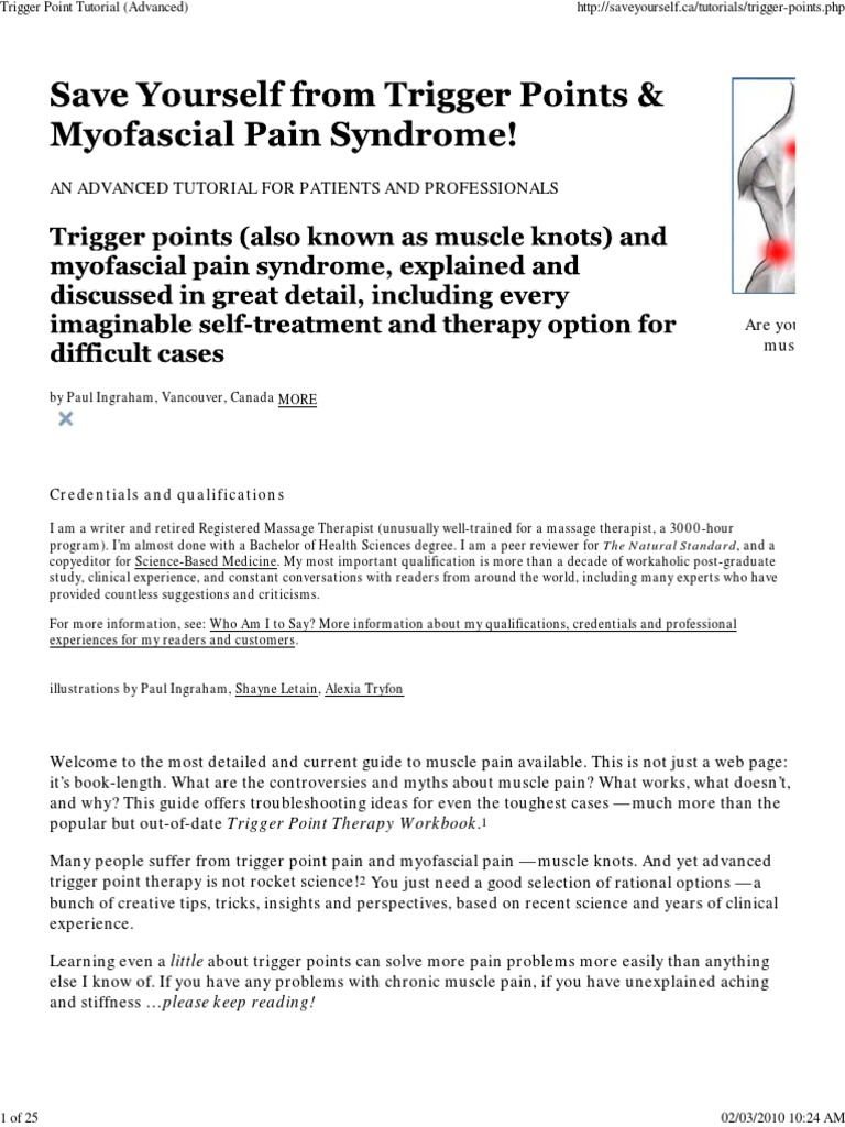 Save Yourself From Trigger Point & Myofascial Pain Syndrome ...