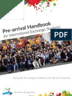 NSYSU Exchange Student Pre-Arrival Handbook