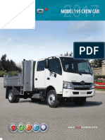 2017 Hino 195 Class 5 Crew Cab Specifications