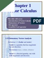 Chap 1 Vector Calculus