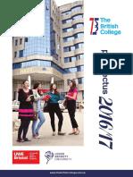 The British College Prospectus 2016-2017