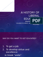 Liberal Education History