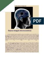 GAURA NEAGRĂ MICROCOSMICA