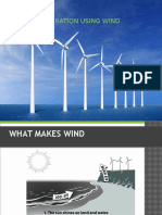 Power Generation Using Wind Turbines