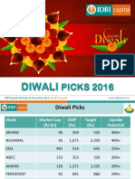 Diwali Stock Picks 2016 IDBI Capital