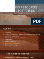 Estimating Resources Using Geostatistic