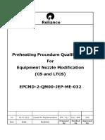 PREHEATING PROCEDURE FOR EQUIPMENT NOZZLE MODIFICATION (CS AND LTCS).pdf