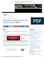 Malaysia's unemployment rate down to 3pc in March - Nation _ The Star Online.pdf