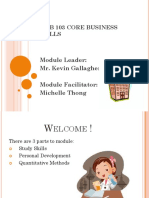 Core Business Skills Introduction & General Information