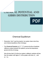 CHEMICAL POTENTIAL AND  GIBBS DISTRIBUTION