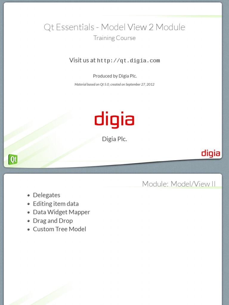 09 - Qt Essentials - Model View 2 Module | Database Index