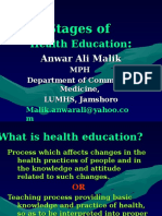 2-Stages of Health Education