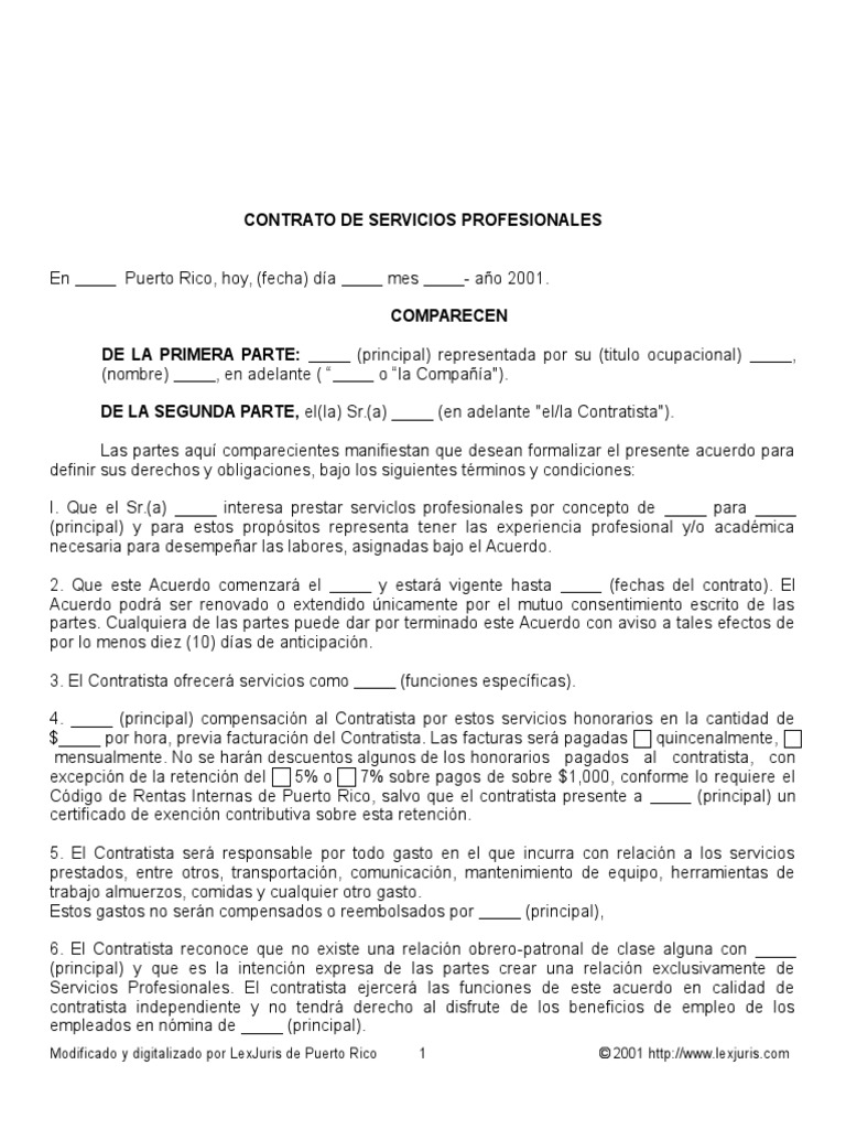 Contrato Servicios Profesionales 2