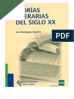 Teorías Literarias Del Siglo XX
