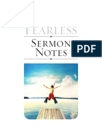 Fearless Sermon Notes