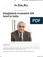 Bangladesh Economist WB Head in India _ the Daily Star