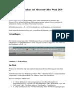 Abkürzungsverzeichnis Mit Microsoft Office Word 2010