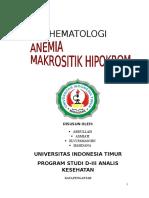 Anemia Makrositik Hipokrom