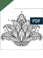 Mandala Con La Flor de Lis