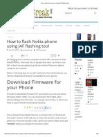 How to Flash Nokia Phone Using JAF Flashing Tool