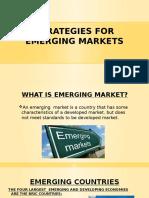 Strategies of Emerging Market